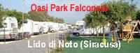 Area sosta Camper Oasi Park Falconara - Noto (SR)