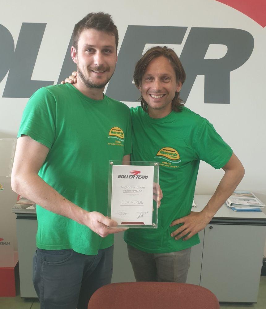 Roller Team premia Idea Verde Camper come miglior venditore 2018/19