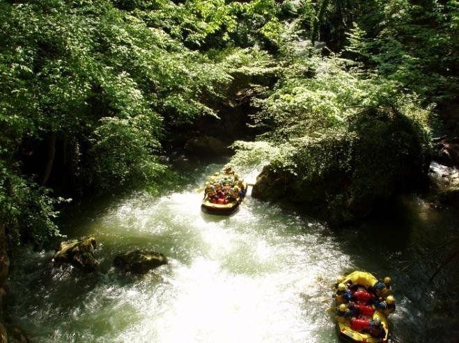 Il Rafting nel fiume Nera