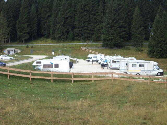Area sosta camper a Lavarone, 18/08/16