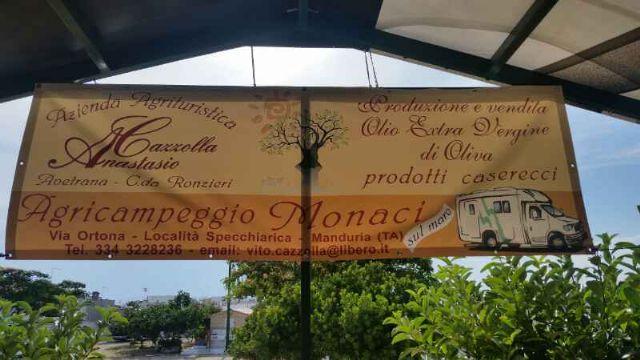 Area sosta camper Monaci, 20/07/16