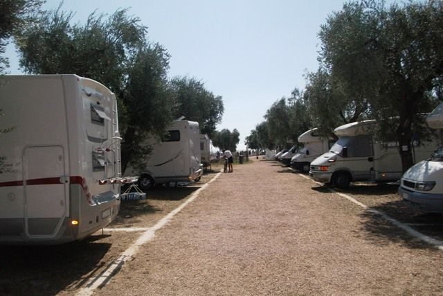 Area sosta camper Punta Grugno, 18/07/12