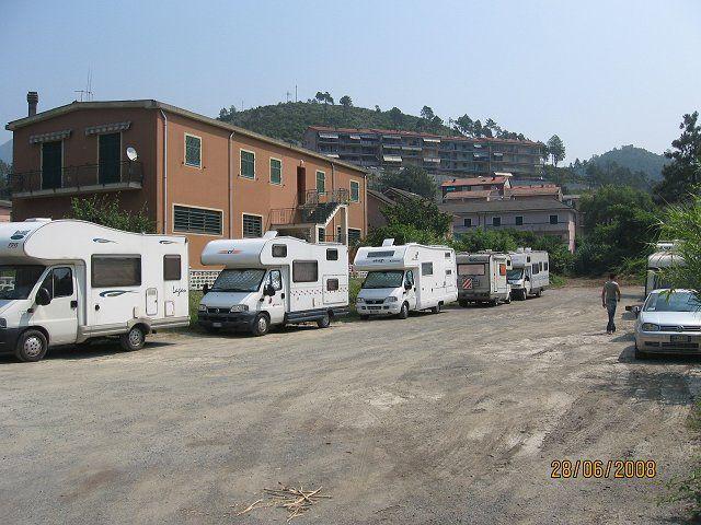 Area sosta camper Parcheggio, 27/07/16