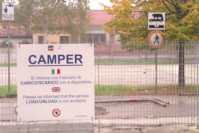 Area sosta camper Parking P1, 23/05/16