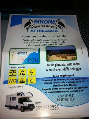 Area sosta camper Airone, 01/07/16