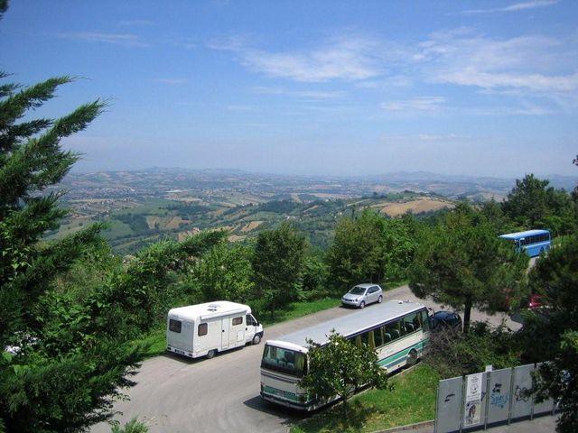 Area sosta camper a Civitella del Tronto, 30/06/13
