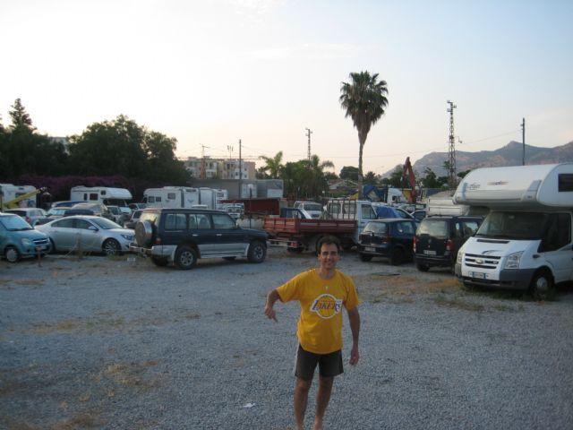 Area sosta camper a Palermo, Parcheggio in Via Uditore a Palemo, 07/07/14