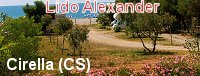 Area sosta camper Lido Alexander - Cirella (cs)