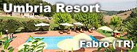 La sosta attrezzata presso il Resort Umbria, a Fabro (TR)